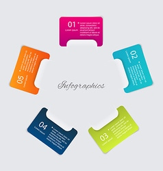 Infographics elements in modern flat business vector image