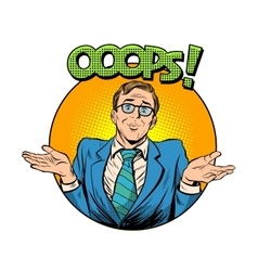 Oops problem man business concept vector