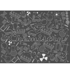 Chemistry chalk vector