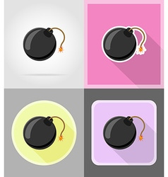 pirate flat icons 05 vector image