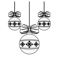 ball ornament christmas related icon image vector image vector image