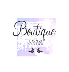 Boutique logo design badge for fashion clothes vector