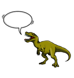 Cartoon image of dinosaur vector
