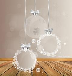 Christmas greeting card with Christmas balls vector image vector image