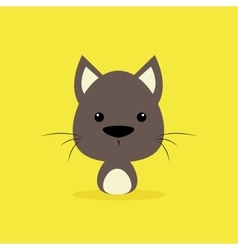 Cute cartoon wild wolf vector
