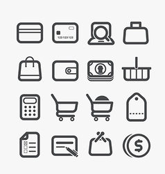 Different shopping icons set vector