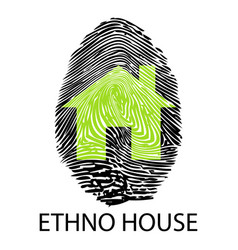Ethno house -fingerprint vector