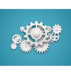 Gears composition background vector