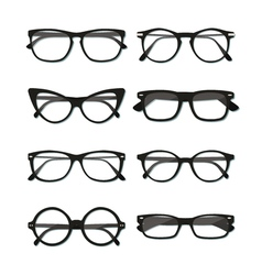 Glasses frame set vector image