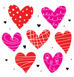 heart love cute cartoon vector image vector image