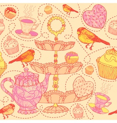 High Tea Pattern Background vector image