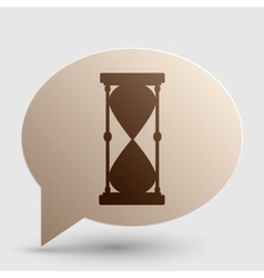Hourglass sign Brown gradient icon vector image