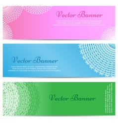 Lacework Ornamental Banners Horizontal Set vector image vector image