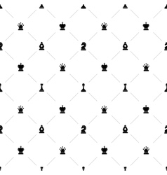 Luxury seamless pattern with chess symbols vector