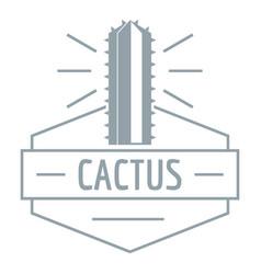 Mexico cactus logo simple gray style vector