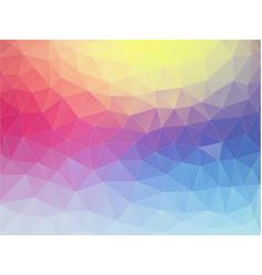 Multicolor flat triangle texture vector