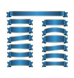 Ribbon banners set blue vector image vector image