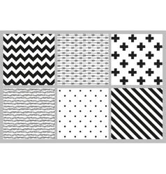 Scandinavian trend seamless patterns vector image vector image