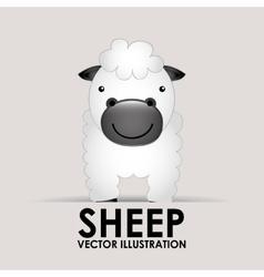 Sheep cute vector