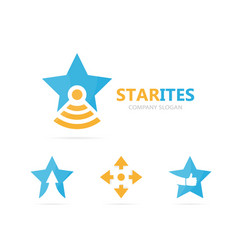 Star and flask logo combination unique vector