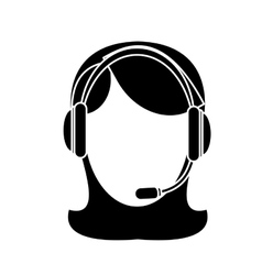 Technical assistant icon image vector