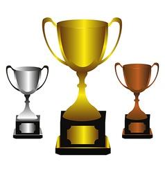 Trophies set vector image