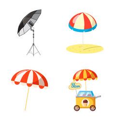 umbrella icon set cartoon style vector image