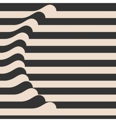 Waved Stripes Vintage Style Background Cover vector image vector image
