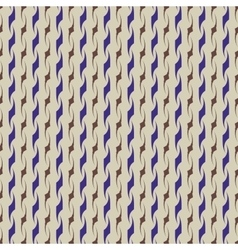 Wavy line blue and brown seamless pattern vector image vector image