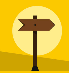 wood sign in yellow background vector image