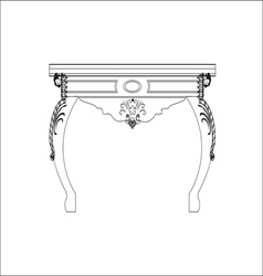 Classic royal table with ornaments vector