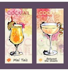 Artistic decorative cocktail menu vector image