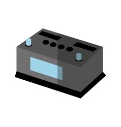 Battery car isolated icon vector