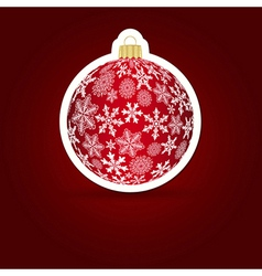 Christmas background sticker ball vector