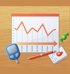 Testing blood sugar level glucose meter diabet vector