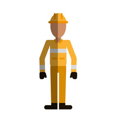 Firefighter avatar icon image vector