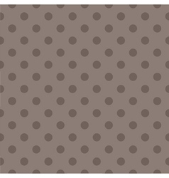 Tile pattern with brown polka dots dark background vector