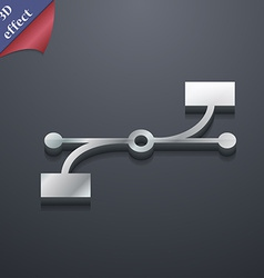 Bezier curve icon symbol 3d style trendy modern vector