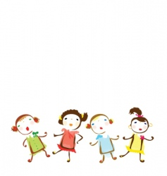 small girls background vector image