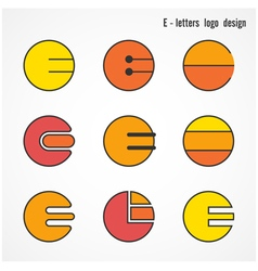 Creative e letters icon abstract logo design vector