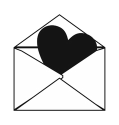 Love letter simple icon vector