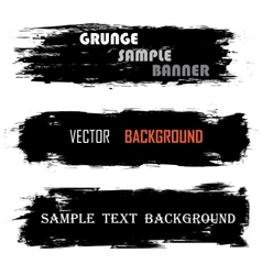 Grunge banners with text vector
