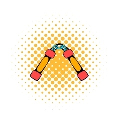 Nunchaku weapon icon comics style vector
