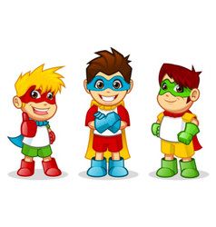 Kid super hero vector