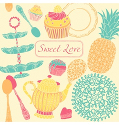 Cupcake Birthday Card vector image