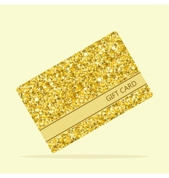 golden gift card vector image