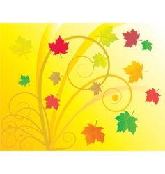 abstract background with autumn leaves vector image vector image