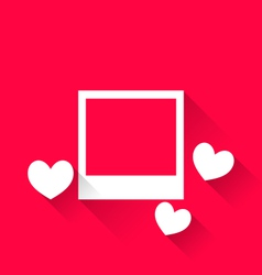 blank photo frame with hearts for Valentine Day - vector image vector image