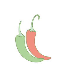 Cayenne chili natural vegetable nutrition vector