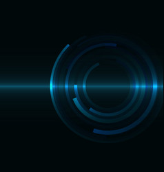 circle spiral line abstract background vector image